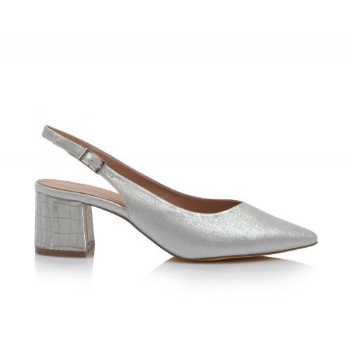 Dámske sandále spoločenské 22058 strieborná