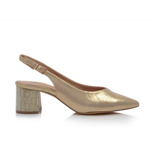 Dámske sandále spoločenské 22058 zlatá