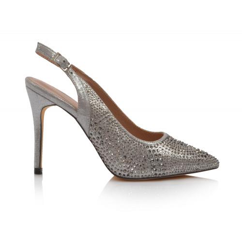 Dámske sandále spoločenské 22155 strieborná