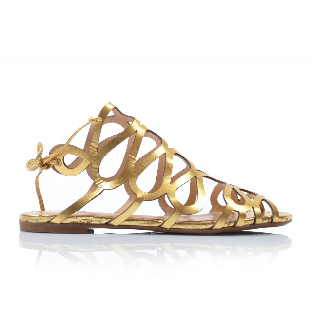 12bbc7e4591dd Dámske sandále nízke 122047 zlaté - UNISHOES.sk