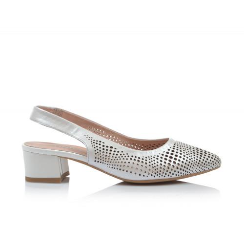 Dámske sandále na podpätku 0431-tn06 biela