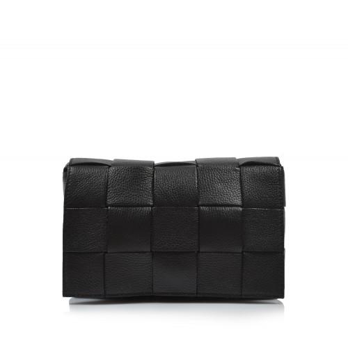 Kabelka kožená crossbody 6226 čierna