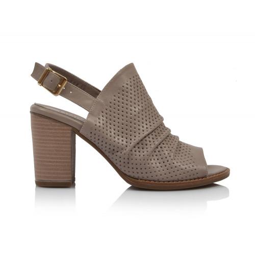 Dámske sandále na podpätku 0052-1053 béžová