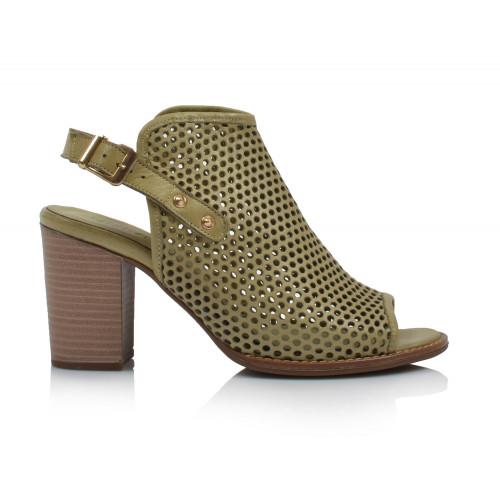 Dámske sandále na podpätku 0052-1054 zelená