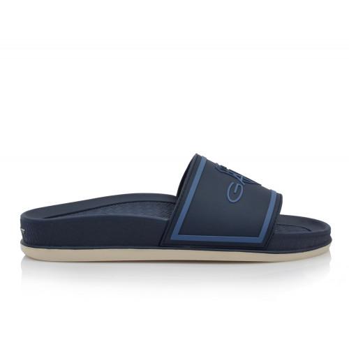 Pánske šľapky  22609618 modrá Gant