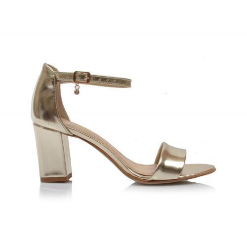 Dámske sandále spoločenské 1122 zlatá