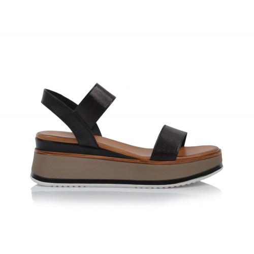 Dámske sandále na platforme 774004 čierna