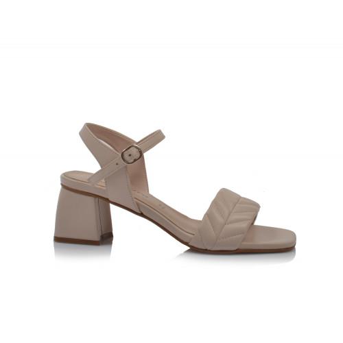 Dámske sandále na podpätku 30319 béžová