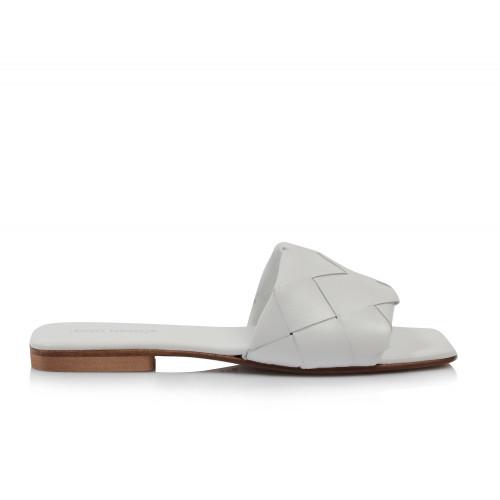 Dámske šľapky nízke q800 biela