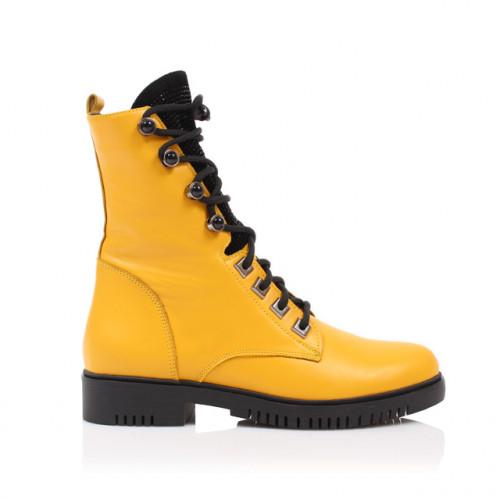 Dámske čižmy členkové 0184e-11 žltá