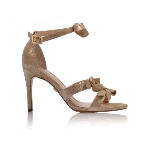 Dámske sandále spoločenské 26479 zlatá