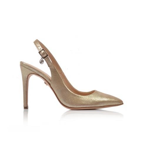 Dámske sandále spoločenské 34209 zlatá