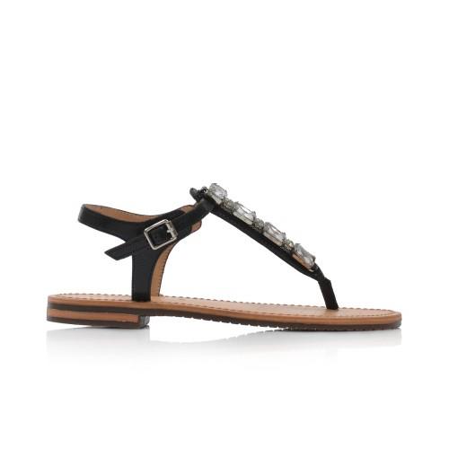 Dámske sandále nízke d822ca000ga black GEOX