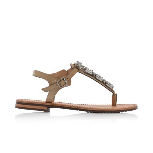 Dámske sandále nízke d822ca000ga cream GEOX