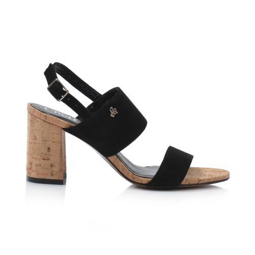 Dámske sandále na podpätku 2062  čierna