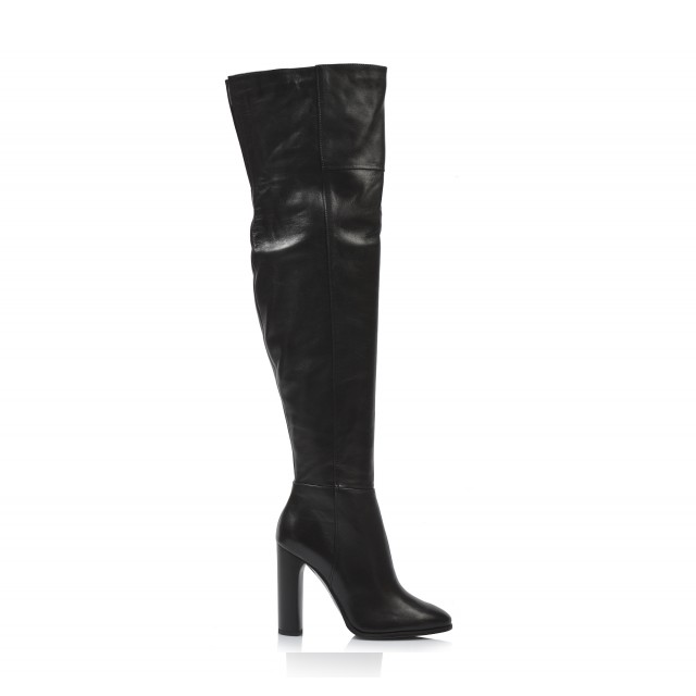 f8fd3e7b07a8 Dámske čižmy nad koleno v-3833 čierna - UNISHOES.sk