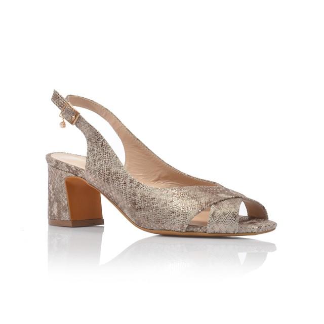 Dámske sandále na podpätku 52206 piton oro
