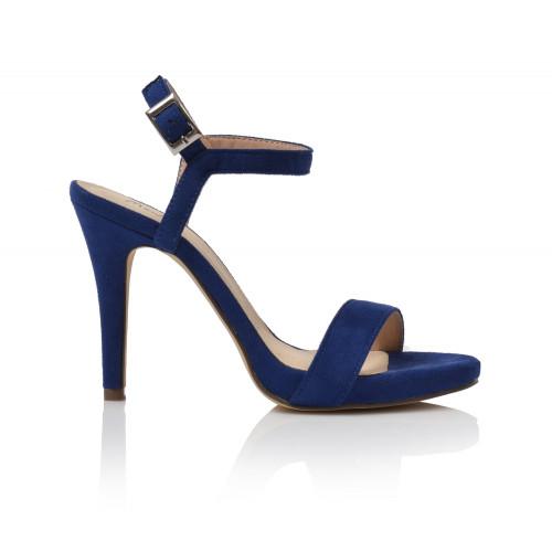 Dámske sandále na podpätku 07352x666  modrá
