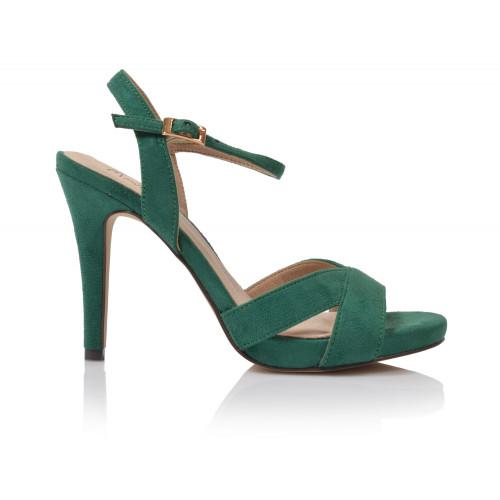 Dámske sandále na podpätku 20066d11  zelená