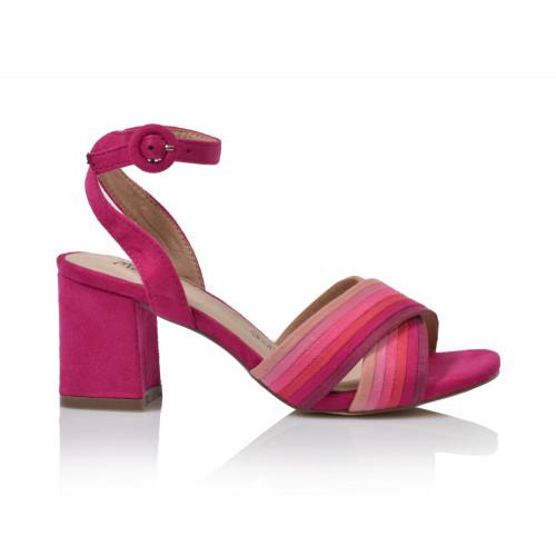 Dámske sandále na podpätku 201250w18  ružová