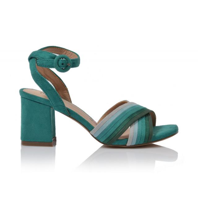 Dámske sandále na podpätku 20125dd50  zelená