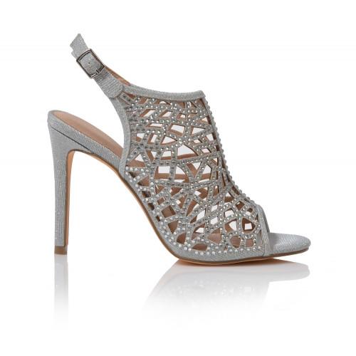 Dámske sandále spoločenské 202170w09  strieborná