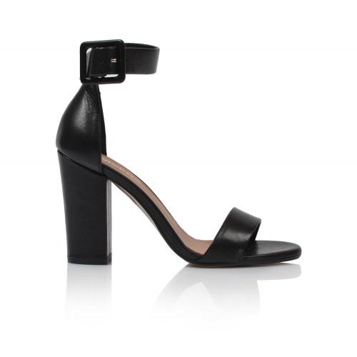 Dámske sandále na podpätku 1826   čierna