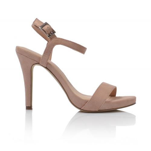 Dámske sandále na podpätku 07352dd97  púdrová