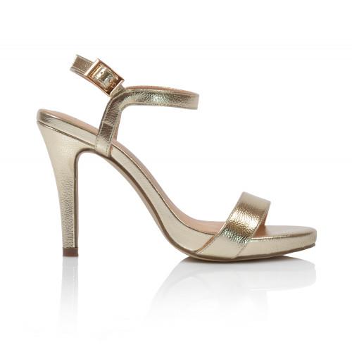 Dámske sandále na podpätku 203450w00  zlatá