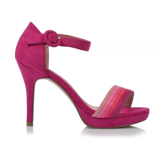 Dámske sandále na podpätku 20141  ružová