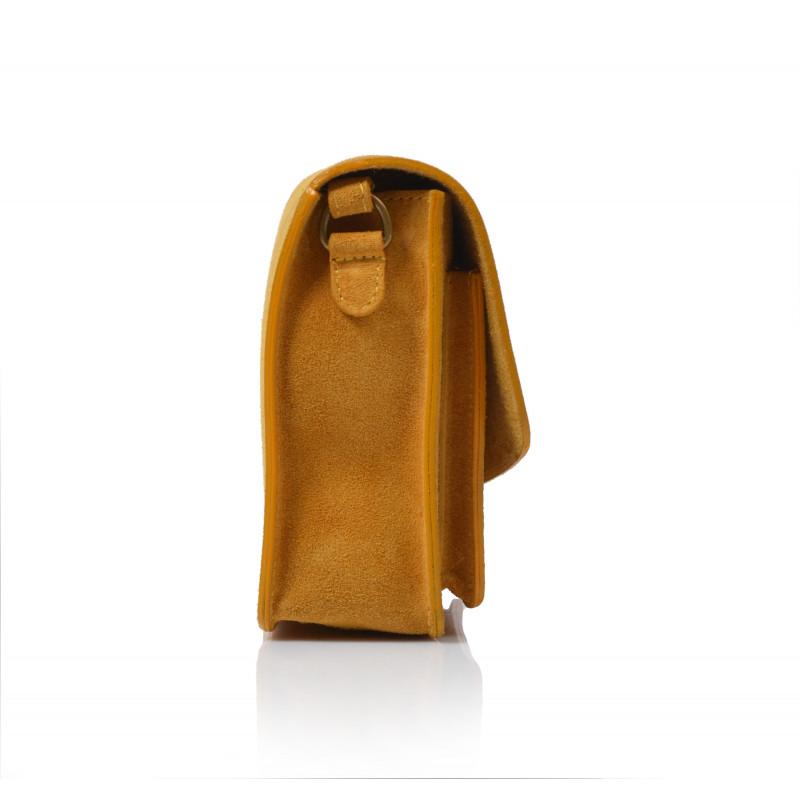 3a7f53b72f Kabelka kožená do ruky 933 žltá - UNISHOES.sk