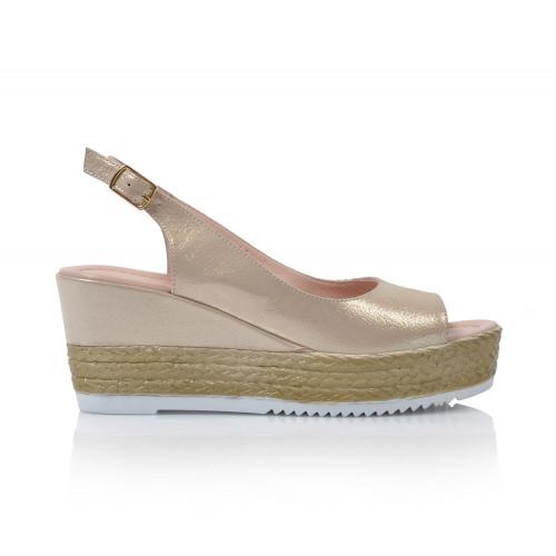 Dámske sandále na platforme 0413-1775  zlatá