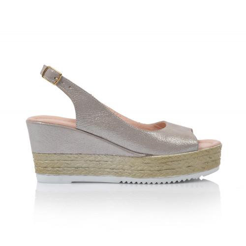 Dámske sandále na platforme 0413-1795  šedá
