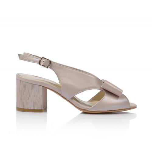 Dámske sandále na podpätku 0415-5961  púdrová