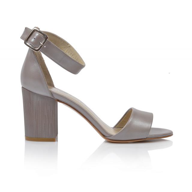 Dámske sandále na podpätku 0415-6037 béžová