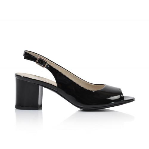 Dámske sandále na podpätku 0431-1004   čierna