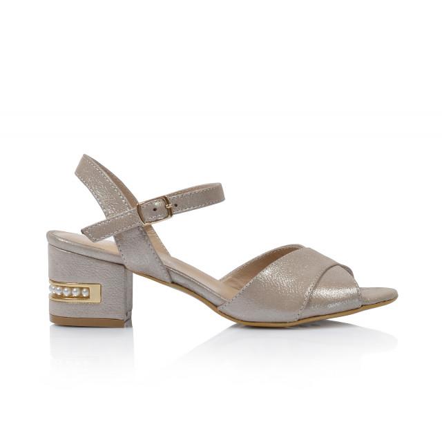 Dámske sandále na podpätku 0627-061 šedá