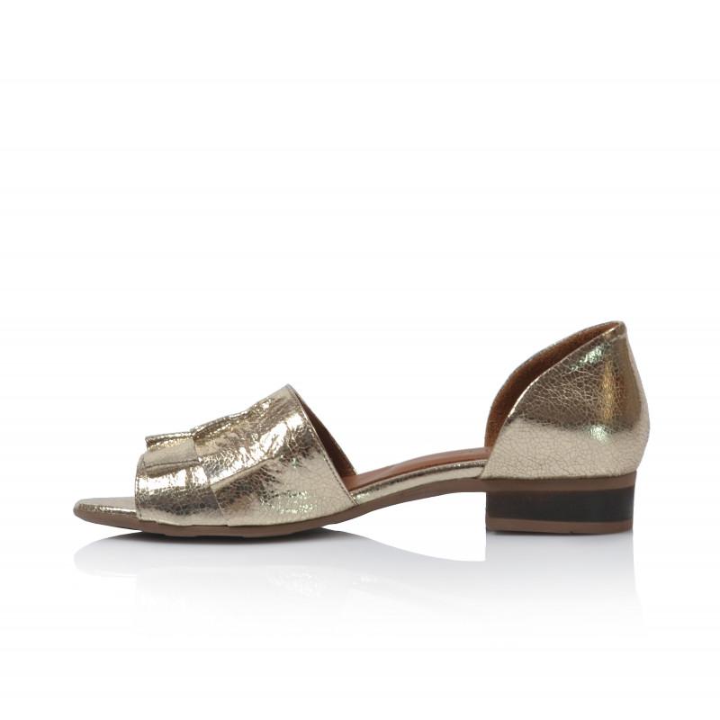 efe01a70be41 Dámske sandále nízke 9n5100 zlatá  Dámske sandále nízke 9n5100 zlatá ...