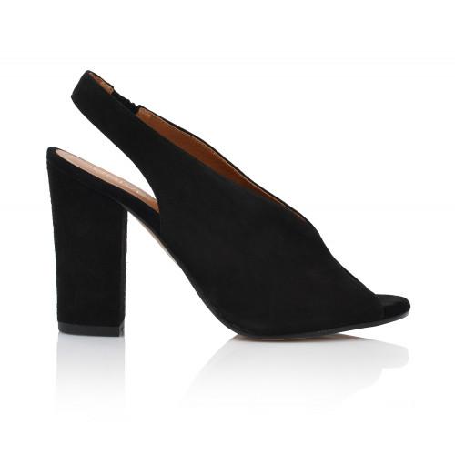 Dámske sandále na podpätku 2088-z-1  čierna