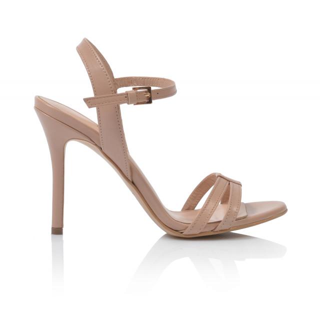 Dámske sandále na podpätku v-4119  púdrová