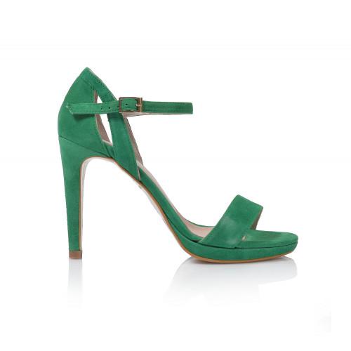 Dámske sandále na podpätku 20515  zelená