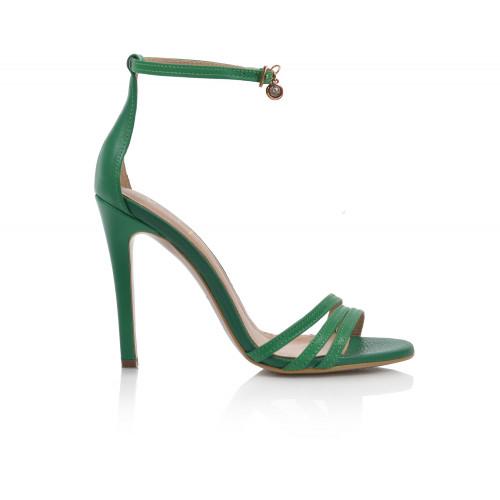 Dámske sandále na podpätku v-3619  zelená