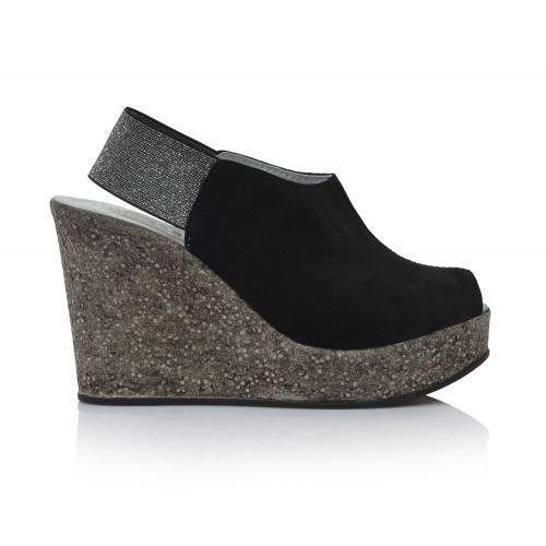 867e9e3f1506 Dámske sandále na platforme 2037 čierna - UNISHOES.sk