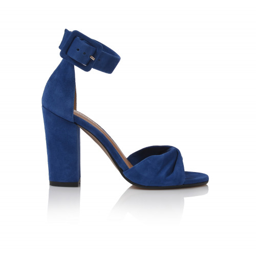 Dámske sandále na podpätku 1994   modrá