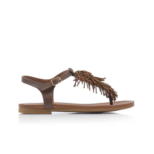 Dámske sandále nízke 7130 hneda
