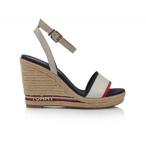 Dámske sandále na platforme fw0fw04075  biela TOMMY HILFIGER