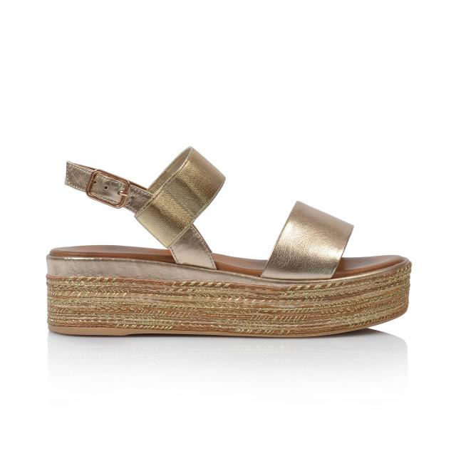 343b697b7cd7 Dámske sandále na platforme 117010 zlatá - UNISHOES.sk