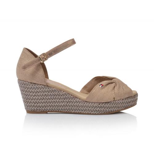 Dámske sandále na platforme fw0fw04079  béžová TOMMY HILFIGER