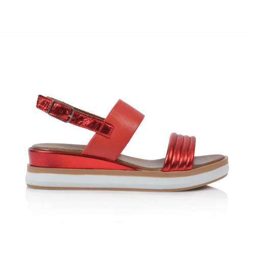 Dámske sandále  113007  červená