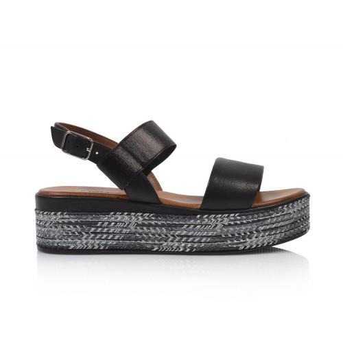 Dámske sandále na platforme 117010  čierna